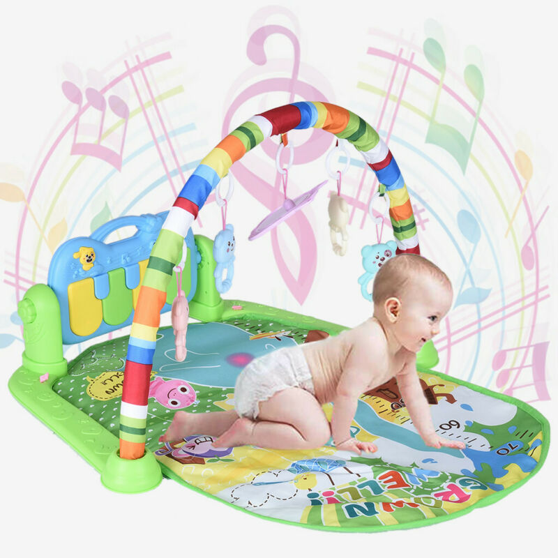 3 in 1 Baby Light Musical Gym Play Mat Lay & Play Fitness Fun Piano Boy Girl US 7
