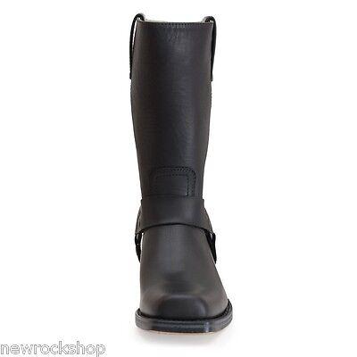c88392138 ... Sendra 1918 Ladies Men Cowboy Boots Black Leather Western Biker  Handmade Unisex 4
