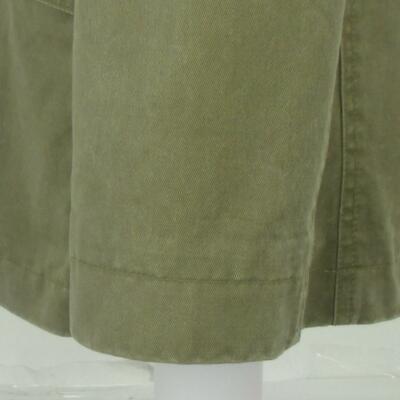 36 S (TAGLIA S) H&M Verde Oliva Marrone Khaki Cotone 2btn