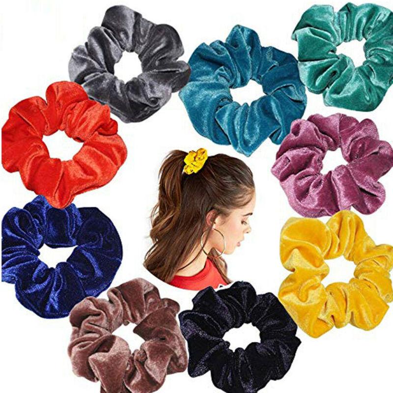 40Pcs Hair Scrunchies Velvet Elastic Hair Bands Scrunchy Hair Band 9 15 20pcs Ne 4