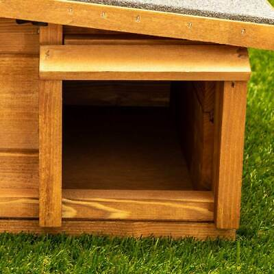 Predator Proof Hedgehog Hibernation Shelter Solid Wood Habitat Nest Box House 6
