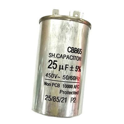 450V25UF Motor Run Capacitor Home Air Conditioner Start Run Capacitor CBB65 5