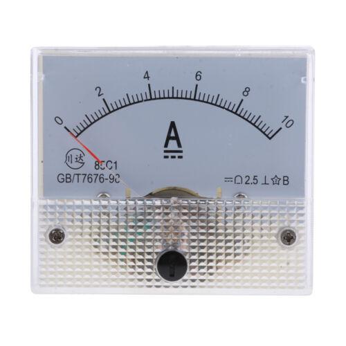 85C1 DC Analog Amp Ammeter Current Panel Meter Milliammeter 1mA-500A Optional