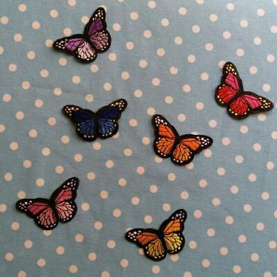 12x Schmetterling Stoff Patches Kleider Aufnäher zum Aufbügeln auf Hemd