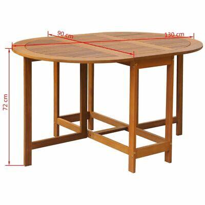 Tavolo Legno Esterno Pieghevole.Vidaxl Tavolo Ovale Esterni Pieghevole Legno Acacia Tavolino