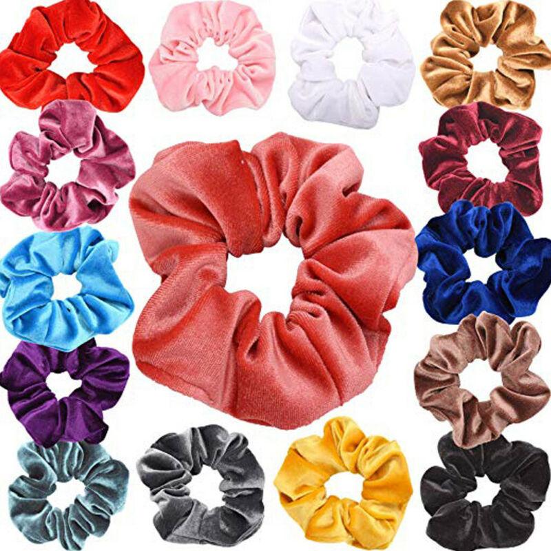 40Pcs Hair Scrunchies Velvet Elastic Hair Bands Scrunchy Hair Band 9 15 20pcs Ne 5