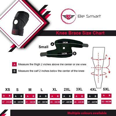 Black Neoprene Adjustable Open Knee Patella Tendon Support Brace Sleeve 2