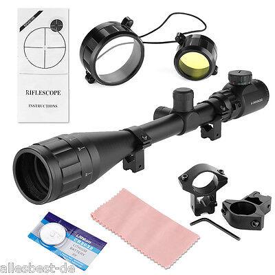 6-24x50 AOEG Jäger Zielfernrohr für Luftgewehr Armbrust Rifle Scope +Montagen DE