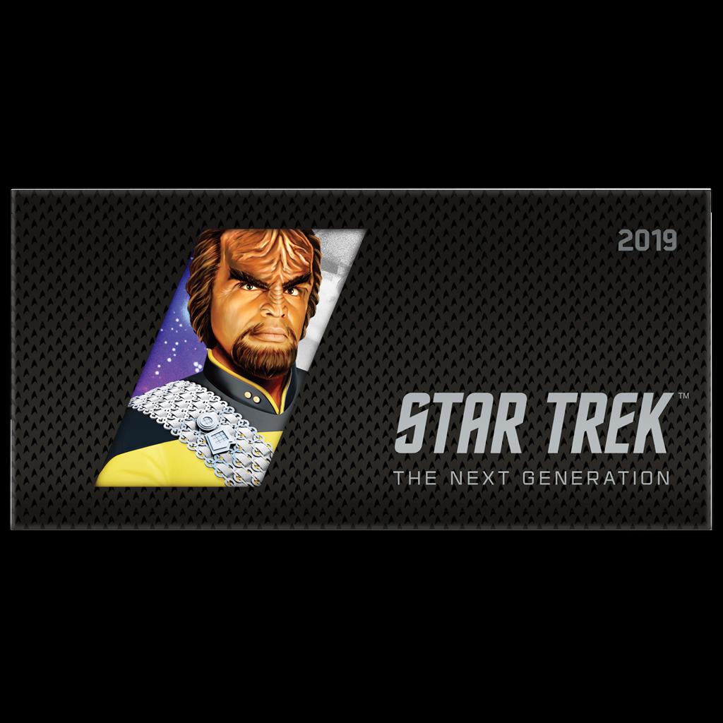 Niue - 1 Dollar 2019 - Star Trek™ - Worf™ (2.) - Münznote - 5 gr Silber ST 5