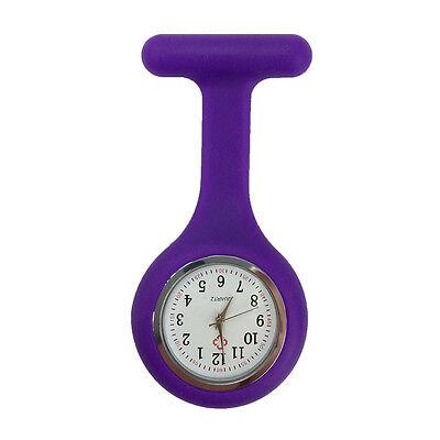 Silicone Nurse Watch Brooch Tunic Fob  Nursing Clip Pendant Pocket  Battery 11