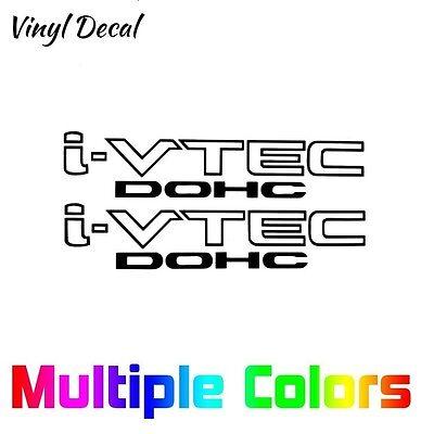 HONDA I-VTEC DOHC Decals Pair Replacement Door Stickers Set iVTEC OEM Style 2