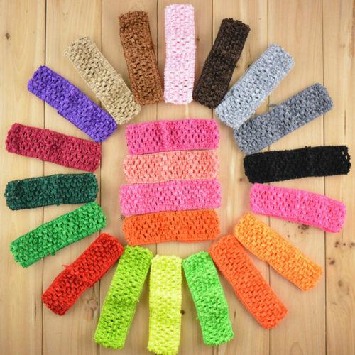 12Pcs Kids Baby Girl Crochet Elastic Hair Band Headband DIY Headwear Accessories 2