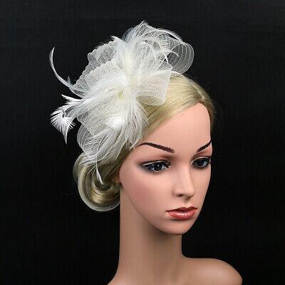 Ladies' Day Fascinator Hat Cocktail Tea Party Headband Women Wedding Hair Clip 12
