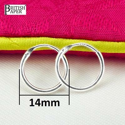 Girls 925 Sterling Silver 8mm -20mm Small Tiny Hinged Hoop Sleeper Earrings Pair 5