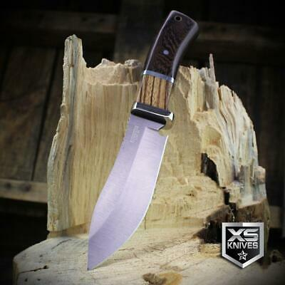 Combat SURVIVAL Hunting Tactical BOWIE Cherry Hard Wood Fixed Blade Knife 8