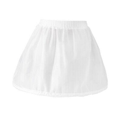Girls 1 Hoop Tulle Wedding Flower Girl Short Chiffon Petticoat Underskirt 4