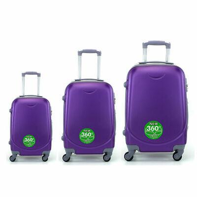 Juego de 3 maletas rigidas lisas de 4 ruedas giratoria 360 maleta equipaje viaje 8