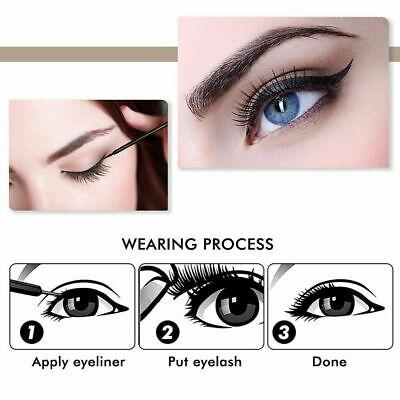 Magnetic Eyeliner Liquid & Lashes Kit - Set of 3 Mink Eyelashes Natural Long UK 8