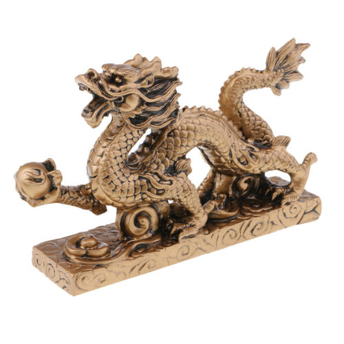 1 Piece Chinese Feng Shui Dragon Bronze Figurine Statue Luck & Success Gifts 3