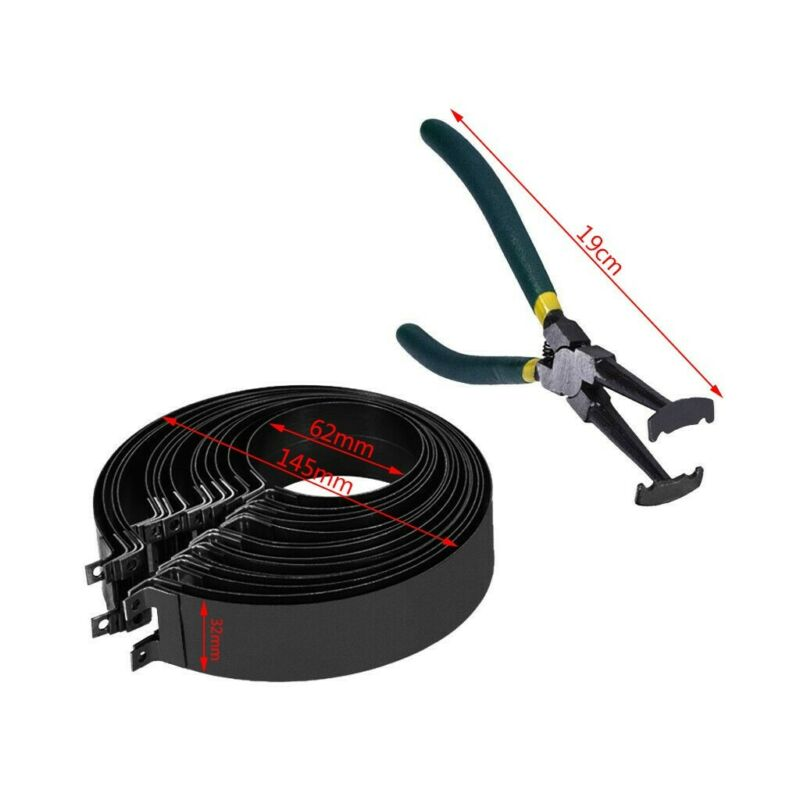 Professional Piston Ring Compressor Cylinder Installer with Plier & 14 Band Tool 3