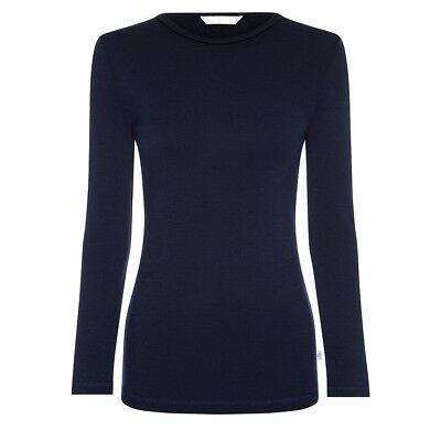 Women Ladies Underwear Winter Warm Fleece Fur Lined Thermal Long Sleeve Top New 10