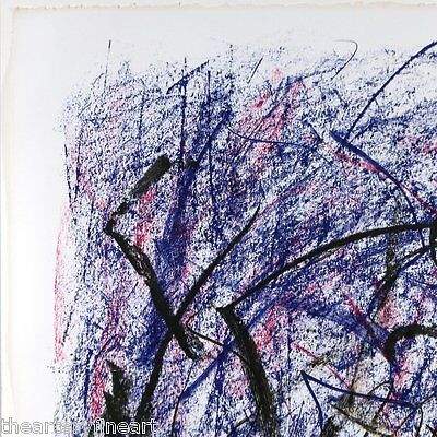 JOAN MITCHELL 'Bedford III' 1981 SIGNED Lithograph Limited Edition Print Framed 8