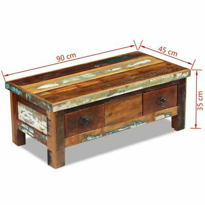 vidaXL Massivholz Couchtisch Beistelltisch Wohnzimmer Sofa Kaffee Tisch Antik 8
