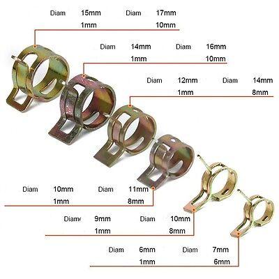 Colliers de Serrage Durite Ressort Ø 5mm à 22mm Essence Gaine Tuyau Auto Voiture 2
