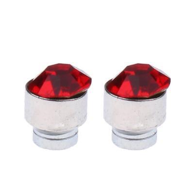 2pc Magnetic Crystal Round Earrings Non Piercing Clip On Men Kids Ear Magnet 5