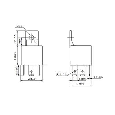 Zubehör für Auto KFZ LKW Reparatur 3x 24V 40A 5-pol SPDT Relais Sockel