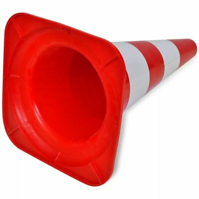 vidaXL 10x Reflective Traffic Cones Red and White 50cm Parking Safety Road 5