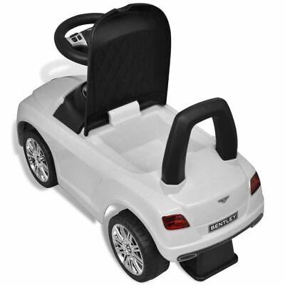 vidaXL Coche Correpasillos para Niños Bentley Blanco Auto Infantil de Juguete 8