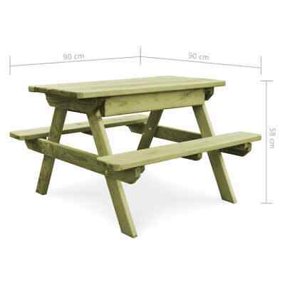 vidaXL Table Pique-nique Banc Bois de Pin Imprégné FSC Jardin Patio Terrasse 7