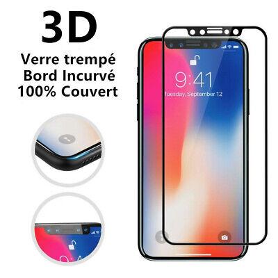 POUR iPhone 8/7/6S/6 XR XS MAX VITRE PROTECTION VERRE TREMPE 3D FILM INTÉGRAL 12