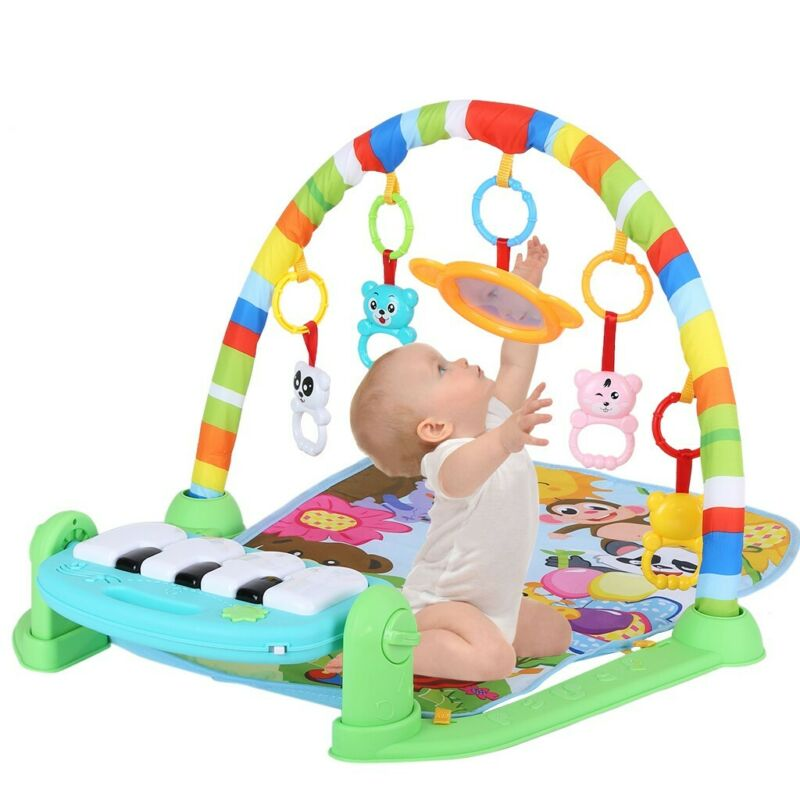 3 in 1 Baby Light Musical Gym Play Mat Lay & Play Fitness Fun Piano Boy Girl US 3