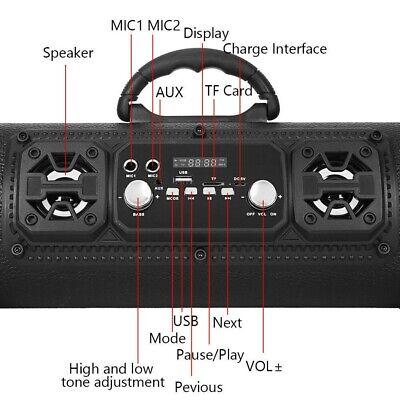 High Bass Ultra Loud Bluetooth Speakers Portable Wireless Speaker Outdoor/Indoor 10