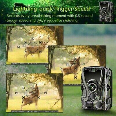 1080P Caméra de Chasse Caméra de Surveillance IR HD Nuit Vision GSM/MMS/SMTP/SMS 10