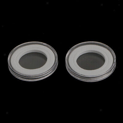 Coin Display Case Double Clear Capsule for 40MM Commermorative Coin Blue