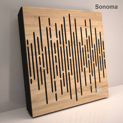 """2pcs 50*50*3cm Sound Absorption-Diffuse Acoustic Panel """"Wave"""", (laminated wood) 5"""