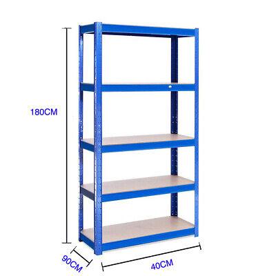 Heavy Duty Garage Racking Storage Shelving Units Boltless Thicken Shelves 5 Tier 3