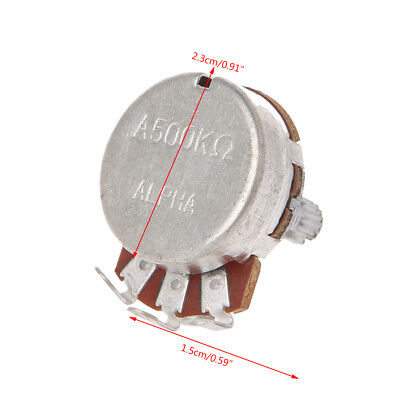 A500K OHM Metal Audio POTS Potentiometer 24mm Base Replace for Electric Guitar 7