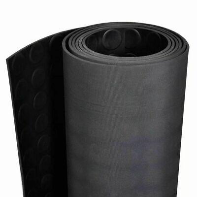 Tappeto antiscivolo gomma nero robusto passatoia zerbino copripavimento bolle 3