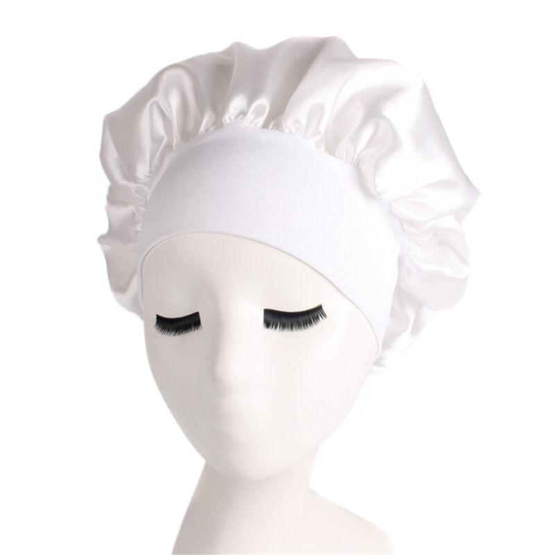 Long Hair Care Women Fashion Satin Bonnet Cap Night Sleep Hat Silk Cap Head Wrap 7
