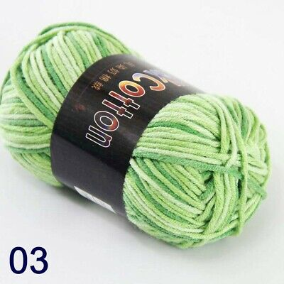 Sale 1ballx50g Soft Cotton Baby Yarn New Hand-dyed Wool Socks Scarf Knitting Men's Clothing