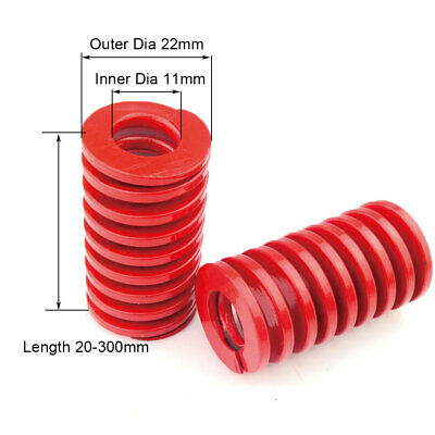 22mm OD Red Medium Load Compression Stamping Mould Die Spring 11mm ID All Sizes 2