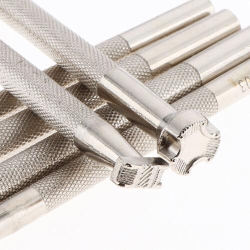 Lederstempel Metallstempel-Set Leder Punziereisen Punzierstempel DIY