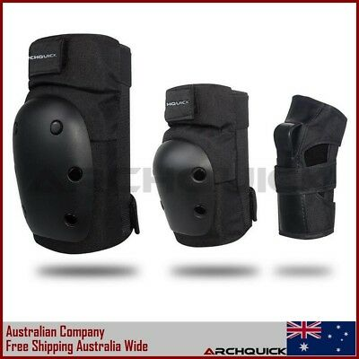 New Archquick Skate Protection 6pc/set- Knee Pads Wrist Brace Guards Elbow Pads