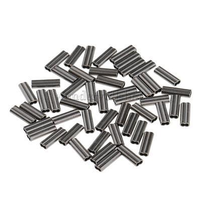 400x Einzeln Barrel Kupfer Klemm Hülsen Klemmverbinder 1.0mm 1.4mm Bohrung