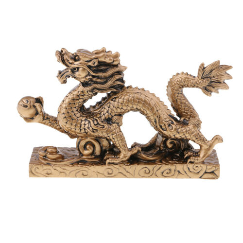 1 Piece Chinese Feng Shui Dragon Bronze Figurine Statue Luck & Success Gifts 2