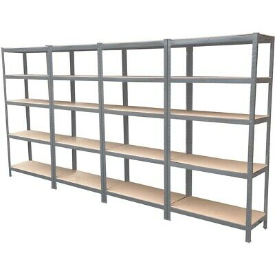 Garage Shed 5 Tier Racking Storage Shelving Units Boltless Heavy Duty Shelves 12